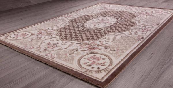килим сафир 8653 кафе/роз